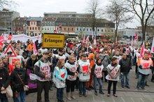 Tarifrunde 2014 Demo der städtischen Beschäftigten am 19.3.2014