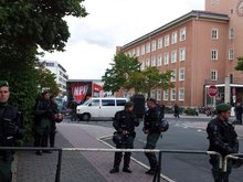 Wenige auswärtige Nazis auf Tour