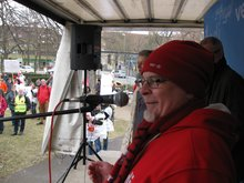 Roland Hornauer bei der Streikkundgebung am 13.3.2015