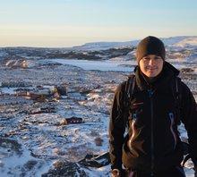 Christian Günthner beim Praktikum in Island