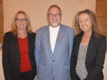 von links Ursula Hofmann, Roland Hornauer und Elisabeth Rauch