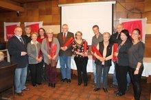 25 Jahre Gewerkschaftsmitglied, darunter Ines Meissner und die Vorsitzende der SPD Stadtratsfraktion Barbara Pfister