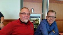 Roland Hornauer und Dietmar Radde in Fulda bei der Tarifkonferenz