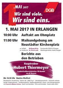 1. Mai in Erlangen