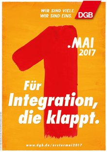 Motivplakat Integration DGB 1. Mai 2017