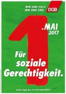 Motivplakat Soziale Gerechtigkeit DGB 1. Mai 2017