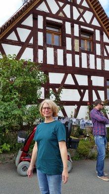 Iris Schubert beim Hoffest