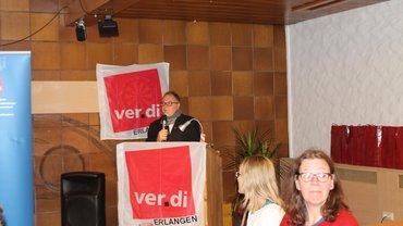 Ortsvereinsvorsitzender Roland Hornauer begrüsst