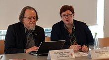 Christine Behle und Wolfgang Pieper