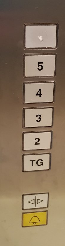 Aufzugsbeschilderung