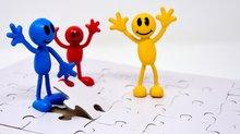 Jubel Hands up Freude Gemeinsam stark